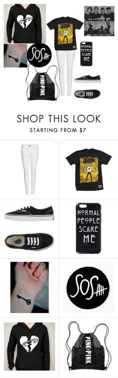 """5sos"" by xxashlyperezxx ❤ liked on Polyvore featuring Burberry and Vans"
