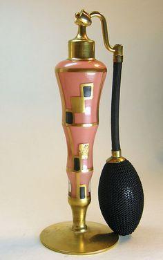 DeVilbiss 1930 Art Deco Coral Perfume Atomizer!