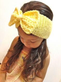 Bow Ear Warmer Headband in any size by VastVarieties on Etsy 8d19ddf6e682