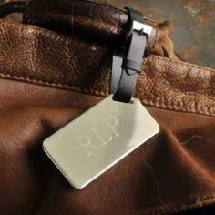 Personalized Engraved Luggage Tag for Him.