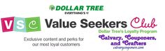 Dollar Tree Value Seekers Club Calvary Couponers and Crafters