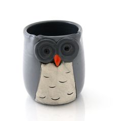 teacher or grad Owl pencil cup by LennyMud on Etsy, $16.00