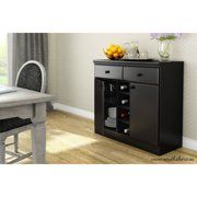 Maximize the storage option in your dining room, living room or entryway with this elegant South Shore Morgan Pure White Buffet. Door Storage, Storage Cabinets, Storage Spaces, Locker Storage, Drawer Storage, Black Buffet, Sliding Wood Doors, Modern Buffet, Cube Organizer