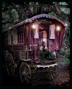 Fairytale gypsy wagon! My dad came up to me telling me he wants to make one for me! I truly have the perfect father <3