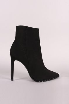 96c7d8a870bb Bad Habits - Black Studded Ankle Booties