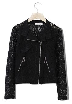 Black Lace Moto Jacket! This is great
