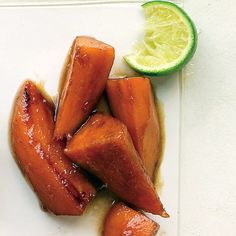 Dress up sweet potatoes with a flavorful brown sugar glaze. The sweetness of this extra-tasty side dish is balanced by a pinch of cayenne pepper.