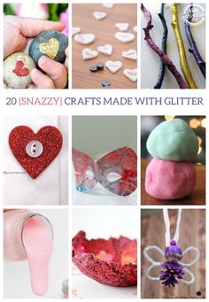 20 {Snazzy} Crafts Made with Glitter - Kids Activities Blog