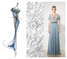 Seasonal Sensibilities: From Sketch to Show    Known as a symbol of prosperity, fields of wheat served as the inspiration for this Resort 2013 gown. See it here conceptualized in a sketch and brought to life at our show.