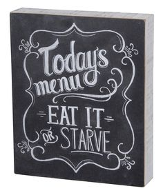 'Today's Menu' Totally making one of these for my kitchen!