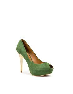 green tea peeptoe heels