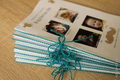 DIY : Relier ses livrets de messe de baptême avec un fil bicolore