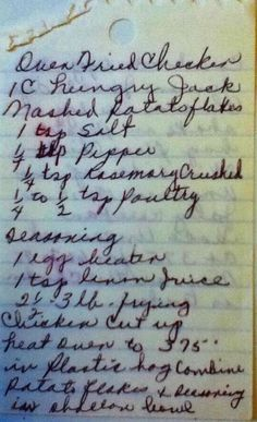 Vintage Handwritten and Old Recipes on RecipeScans.com
