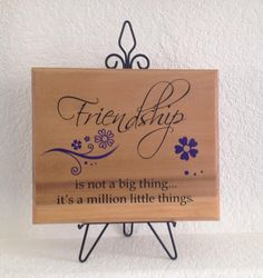 #Friendship sign #plaque  is not a big thing it's by Frameyourstory