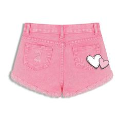 High Waist Denim Shorts In Candy Colors (985 THB) ❤ liked on Polyvore featuring shorts, denim shorts, highwaist shorts, high waisted shorts, high rise denim shorts and short jean shorts
