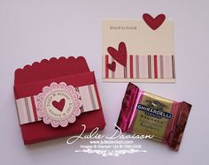 Julie's Stamping Spot -- Stampin' Up! Project Ideas Posted Daily: Scallop Envelope Valentine Treat