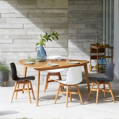 This stunning garden table is designed to make an impact outdoors with tapered legs, an original shaped table top and an. Garden Table, Garden Chairs, Garden Furniture, Parasol, Acacia, Teak, Slatted Shelves, Tea Trolley, Dining Chairs