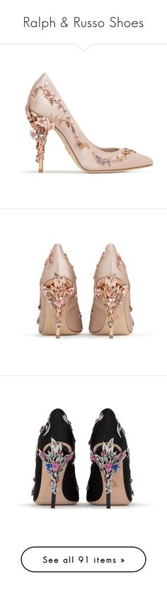 """Ralph & Russo Shoes"" by sakuragirl ❤ liked on Polyvore featuring shoes, pumps, heels, heel pump, high heel shoes, high heel court shoes, high heeled footwear, high heel pumps, ralph and russo and pointed toe high heels stilettos"