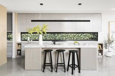 New life for Northcote Federation Home - Haymes Paint Home Decor Kitchen, Interior Design Kitchen, New Kitchen, Home Kitchens, Kitchen Dining, Kitchen Ideas, Kitchen Island Bench, Contemporary Kitchen Cabinets, Casa Clean