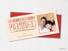 merry married holiday card vistaprint - Vistaprint Holiday Cards