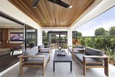 Clarendon Homes. Paddington City 30. Grand Alfresco Area with a beautiful timber ceiling.