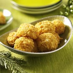 Crispy Potato Puffs Recipe from Taste of Home -- Crispy coating surrounds a velvety potato filling in these adorable puffs. Shared by Eva Tomlinson of Bryan, Ohio.