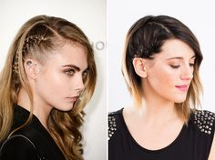 5-Minute Braid: DIY Cara Ds Side Braid for Your Holiday Party via Brit + Co