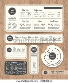 Restaurant Cafe Set Menu Graphic Design Template layout