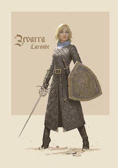 My D&D character Zevarra Laronde, brought to life by artist Bob Kehl Character Design Cartoon, Fantasy Character Design, Character Design Inspiration, Character Concept, Character Art, Concept Art, D D Characters, Fantasy Characters, Fantasy Kunst
