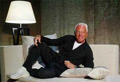 Giorgio Armani at home