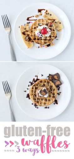 3 Fun Ways to Enjoy Gluten Free Waffles. Get tasty ideas on how to serve Van's Gluten Free Waffles. #ad #VansFoods