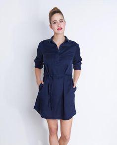 marineblauwe-jeansjurk