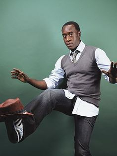 Don Cheadle love his acting, and the balancing of a hat!
