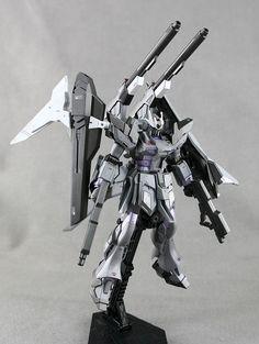 GUNDAM GUY: P-Bandai: HGBF 1/144 Hi-Nu Gundam Influx - Customized Build