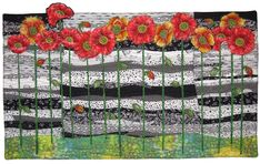 Icelandic Poppies by Lisa Ellis Quilts - Landscapes and Art Quilts
