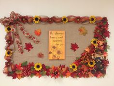 Fall bulletin board for church