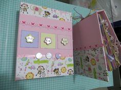 album de scrapbook para bebe rosa e marrom - Pesquisa Google