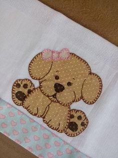 Pano de boca 1 und Baby Applique, Applique Quilt Patterns, Applique Templates, Applique Designs, Machine Embroidery Designs, Dog Quilts, Animal Quilts, Baby Quilts, Quilting Projects