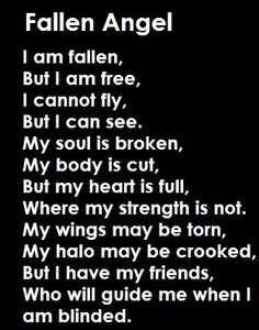 Fallen Angel this is totally me
