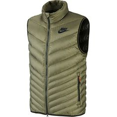Shop Nike Cascade Down Vest Iron Green Medium. Nike Outfits, Casual Outfits, Fashion Tag, Mens Fashion, Winter Vest, Man Quilt, Down Vest, Quilted Jacket, Nike Jacket