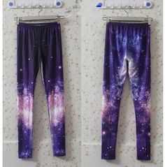 Pink Space Print Leggings