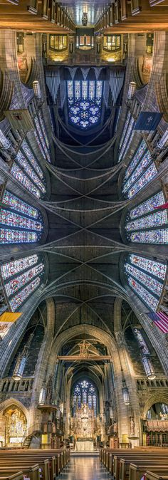 Vertical Panoramic Photographs of New York Churches by Richard Silver on thisiscolossal.com