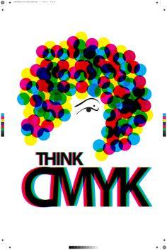 CMYK Póster by Tania Alonso, via Behance