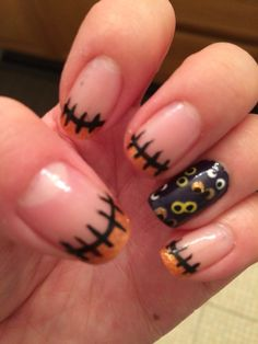 Halloween French tips w/a twist