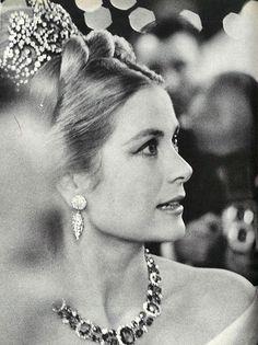 hollyjacks via dosesofgrace:  Princess Grace of Monaco at the Monte Carlo Centennial Ball, 1966