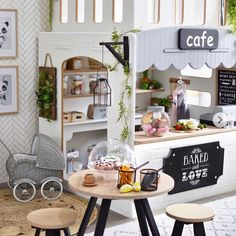 This kind of playroom design is seriously a noteworthy style principle. Kids Play Kitchen, Kids Play Area, Kids Play Rooms, Play Corner, Kids Corner, Playroom Design, Playroom Decor, Playroom Ideas, Kids Playroom Storage