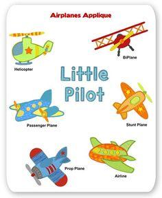 Airplanes Embroidery Applique Designs
