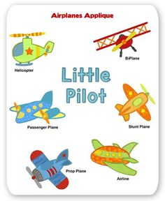 Airplanes Embroidery Applique Designs