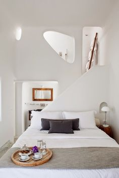 White with wood accents.   minimal, modern, adobe, cob house, midcentury, scandinavian, southwestern