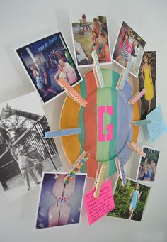 Clothespin photo holder ~ great craft for tweens & teens | @artbarblog